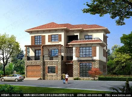 三层别墅设计_三层带车库别墅设计效果图房屋户型设计