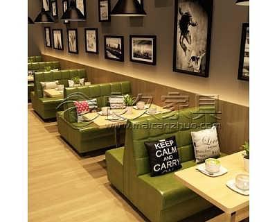 湛江快餐店桌椅食堂餐桌椅卡座沙发定制