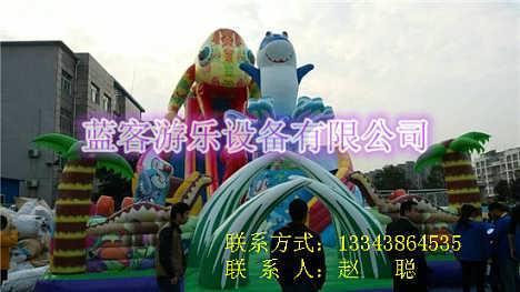 内蒙古乌海充气城堡厂家价格 儿童充气城堡投资分析-郑州蓝客游乐设备有限公司.