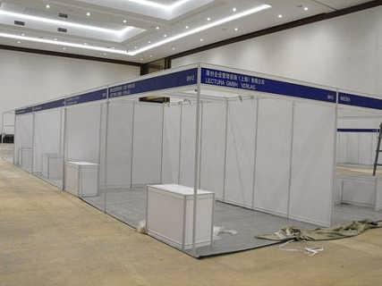 户外活动展位展架搭建标准展位租赁-云南立欣展览服务有限公司