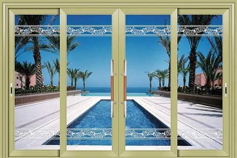 断桥铝合金门窗,窗纱一体,佛山推拉窗纱一体,欧顿门窗
