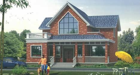 一层半实用农村小别墅设计图,25万农村别墅建房图纸