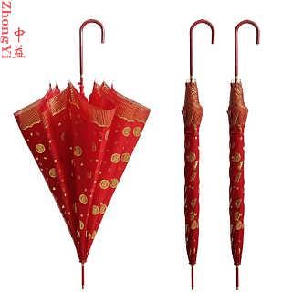 中益新娘伞结婚红雨伞高端双层豪华款式
