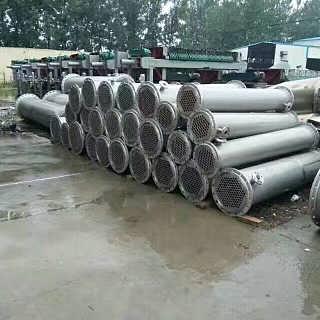 转让二手不锈钢列管冷凝器设备99成新-梁山禾兴二手化工设备购销处