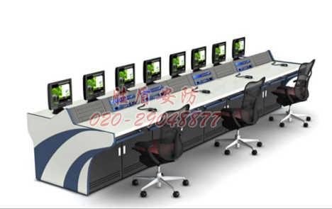 110指挥中心接警台 航空控制台 通信行业操作台 钢木调度台厂家定做