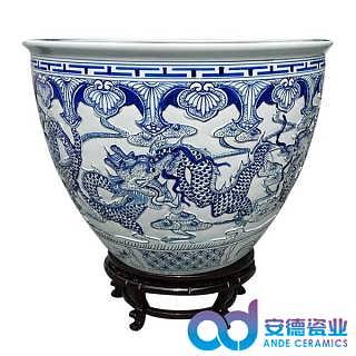装饰品陶瓷大缸 青花瓷大缸