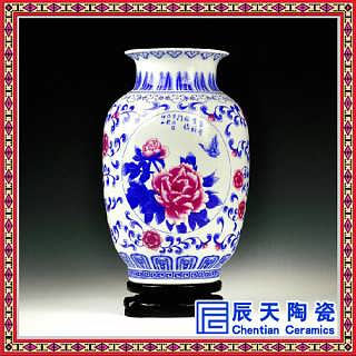 景德镇厂家定制仿古手绘青花瓷花瓶家居装饰工艺品摆设