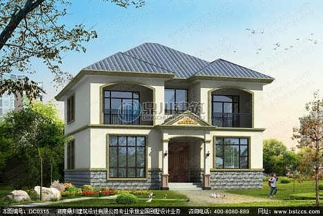 农村二层别墅设计_农村二层带阳台小别墅设计图纸