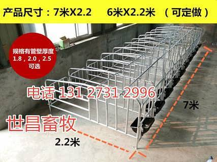 母猪限位栏定位栏的常用尺寸母猪妊娠产子栏河北报价