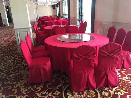 餐厅桌布椅套供应