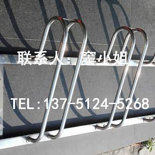 三卡位304不锈钢自行车停车架厂家生产安装