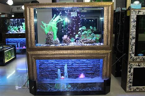 壁挂生态鱼缸诚招代理-山东森贝尔水族景观制作有限公司