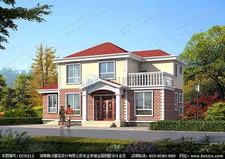 农村别墅设计_农村二层带露台小别墅设计效果图