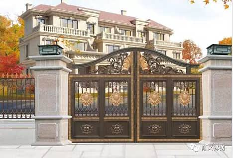 别墅 庭院铝合金大门定做价格 顺义锌钢