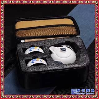 陶瓷一壶二两杯便携办公室旅行套装功夫茶具户外茶壶套装