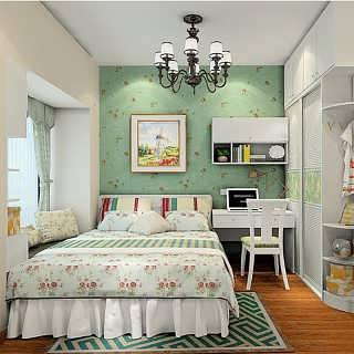 韩式田园卧室家具定制 免费量尺 梳妆台 床头柜 衣柜