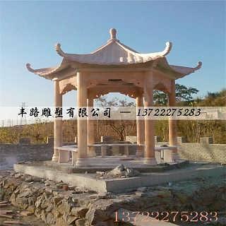 石凉亭,石雕亭子,龙亭,双层八角亭子-曲阳县丰路雕塑有限公司.