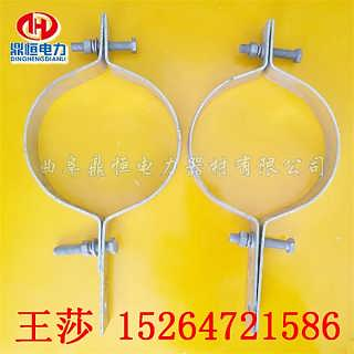 12米电线杆抱箍 电缆桥架抱箍 优质不锈钢杆用紧固件生产厂家