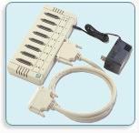 OPT8B RS-232接口8个串口,DB25针式连接盒 多串口盒 MOXA