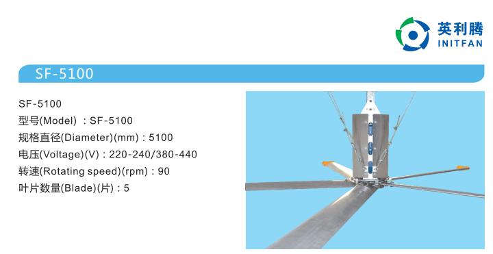 英利腾大型工业吊扇5100系列