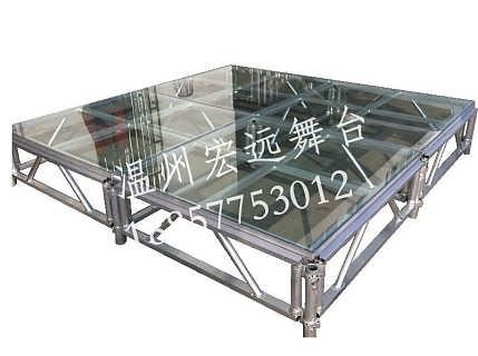 铝合金玻璃舞台 透明玻璃演出舞台