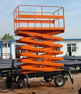 长沙移动剪叉式升降机自行走升降机移动车载
