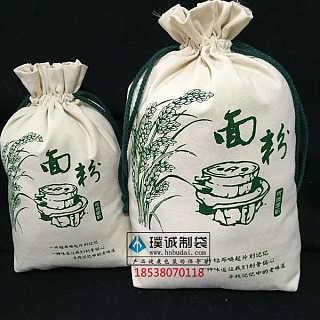 周口高档礼品帆布面粉包装布袋生产厂家-环保纯棉布面粉袋订购电话