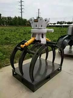 挖掘机日立60旋转夹木器 夹木器生产厂家 河南秸秆夹 方便可旋转