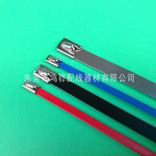 彩色自锁式不锈钢带,不锈钢扎带价格,鸿骅厂家批发