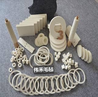 工业毛毡圈 毛毡垫 毛毡条 毛毡块 毛毡筒 毛毡绳 毛毡轮