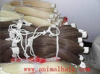 厂家供应纤维长拉力强的马毛制刷马尾毛
