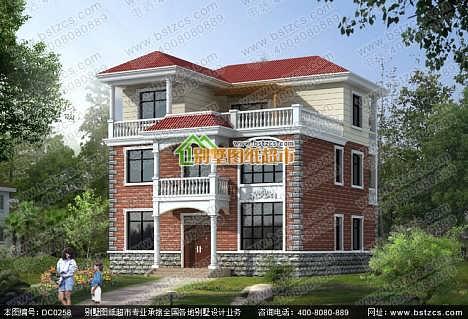 农村自建别墅设计_三层带露台新农村自建小别墅设计效果图