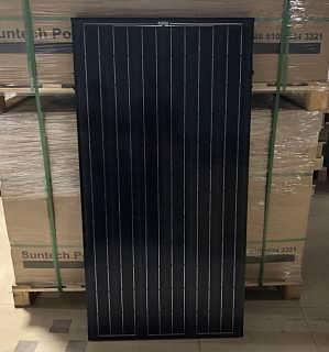 尚德黑色边框太阳能电池板190W单晶硅光伏组件-苏州新勤生光伏科技有限公司
