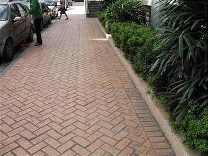 安徽彩色混凝土压印路面 印花道路 印纹地坪材料