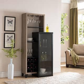 客厅酒柜 现代简约 小酒柜多功能储物柜 靠墙餐边柜红酒柜子家用