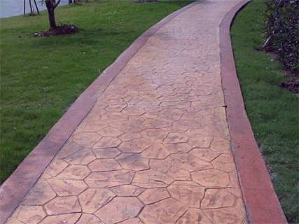 湖南艺术印纹道路 印花硬化混凝土施工解析