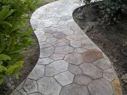江苏水泥印压地面 印花地坪 印模混凝土设计