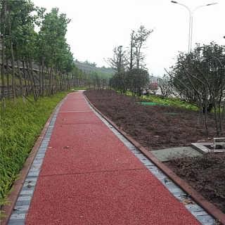 贵州透水地坪 多孔水泥路面 彩色压印地面