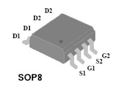 现货供应4803mos管 4803 PDF资料sop-8双P沟道高级功率MO
