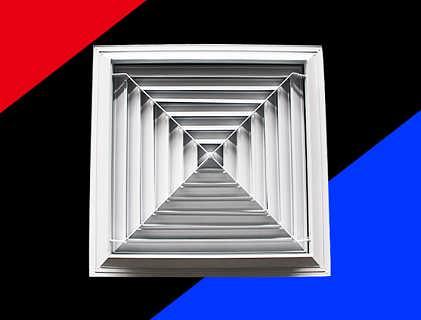 方形散流器 铝合金可开隔栅风口-德州亿凯自控设备有限公司