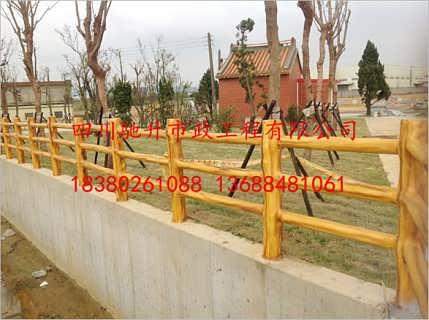 驰升青竹仿木栏杆 户外仿木栏杆 水泥仿木栏杆-四川驰升市政工程有限公司