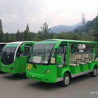 14座电动观光车 旅游景区游客摆渡车四轮观光电动车