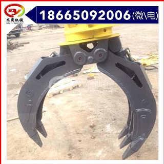 挖机旋转式抓石器 叉式抓爪 东奕机械-广州东奕工程机械设备有限公司