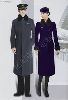 酒店迎宾毛呢大衣-前台大衣尼外套-长款羊毛女大衣定制