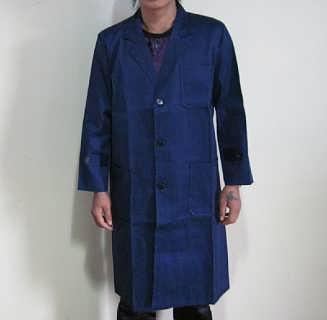 郴州长袖大褂图片长沙蓝色工作服制作厂