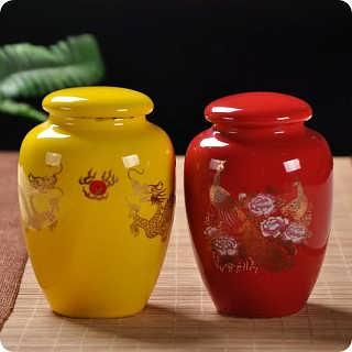 青花陶瓷罐子制作厂家 定做茶叶罐 景德镇罐子工厂