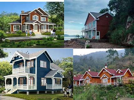 轻钢别墅多少钱一平方新建材装配式房屋 杭州木屋度假村价格