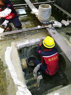 南京斯频德玻璃钢冷却塔集水槽漏水修补堵漏-南京佑天机电技术服务有限公司