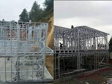 昆明轻钢别墅 预计装配式房屋 宁波度假木屋别墅生态农庄