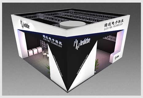 嫣红电子演绎设备展展台设计搭建方案―励之闻展览-广州励之闻装饰工程有限公司